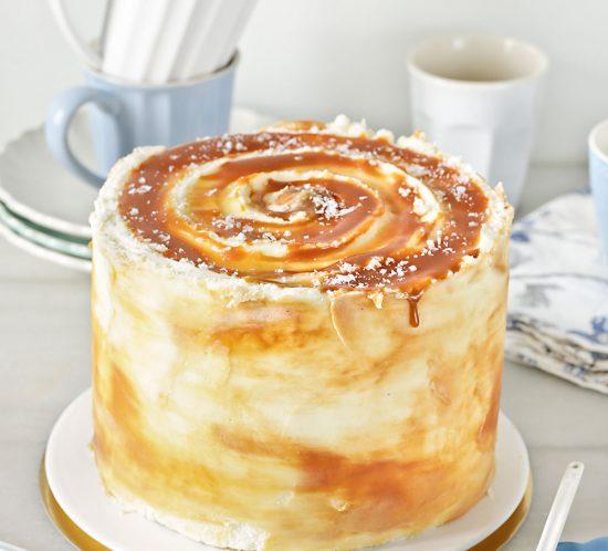 Receta tarta layer cake de caramelo