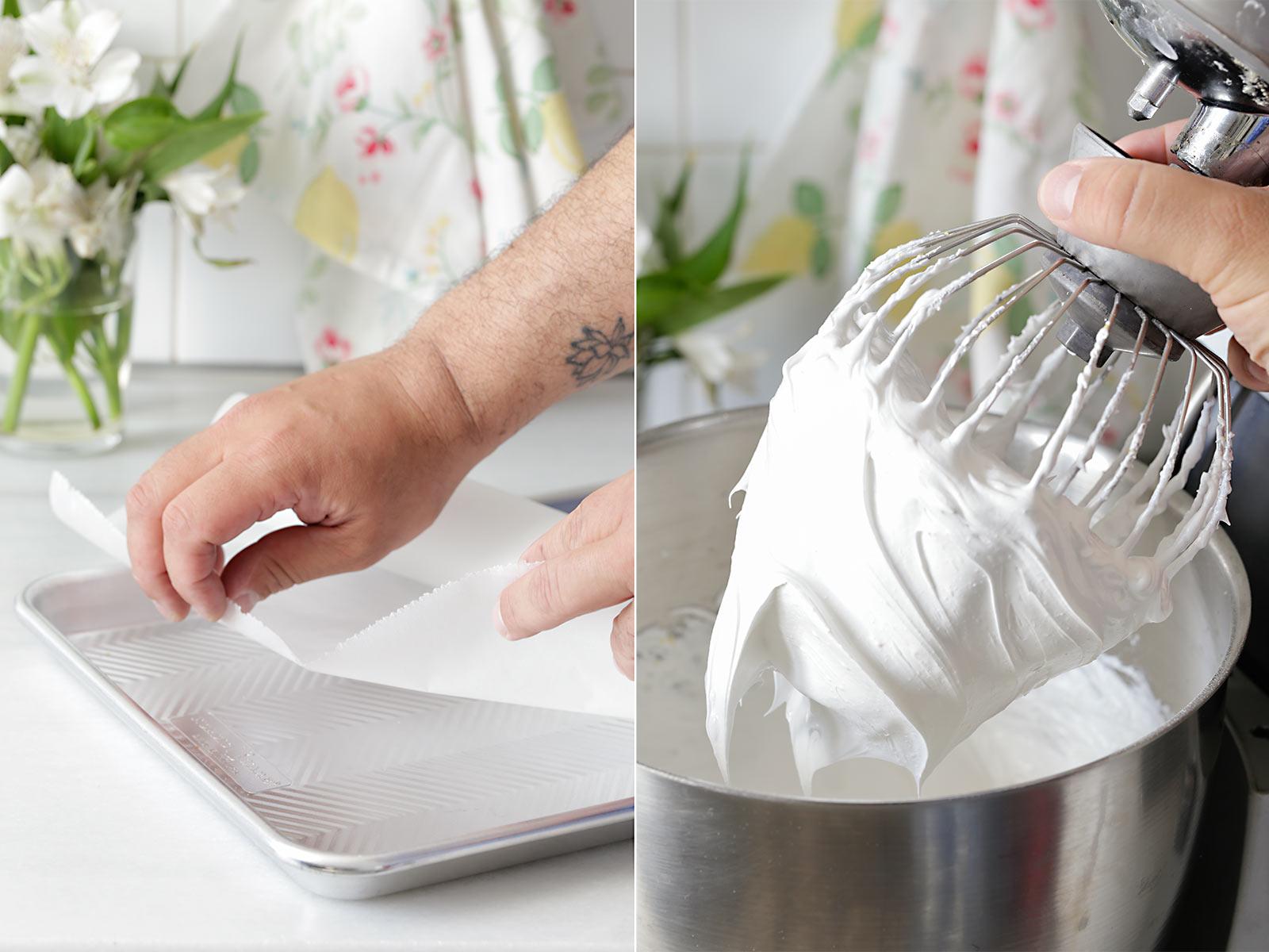Receta brazo de merengue con queso y frambuesa