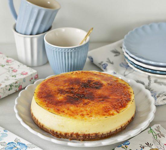 Receta cheesecake brulée con chocolate