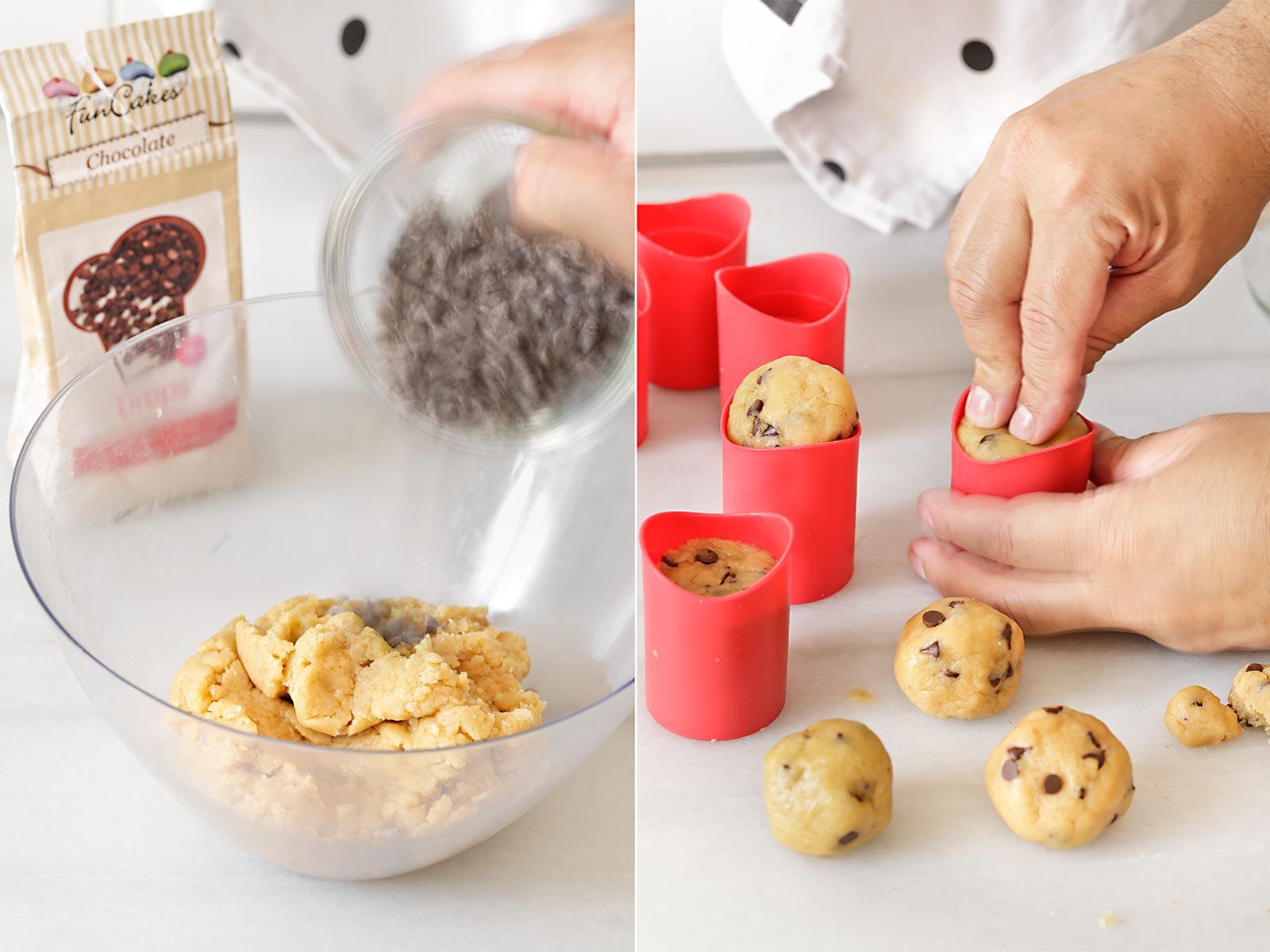 Receta chupitos con mousse de chocolate y queso