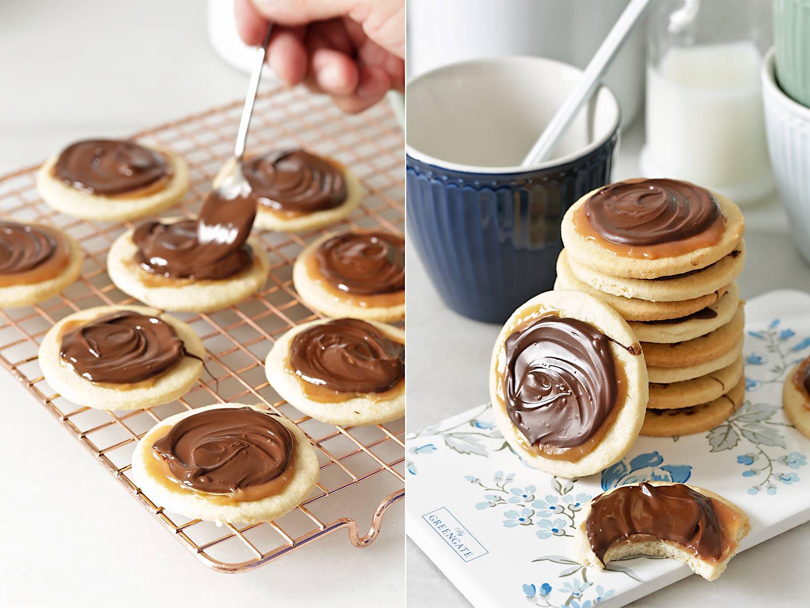 Receta galletas Twix