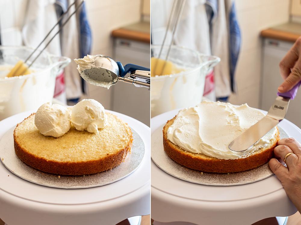 receta layer cake olas