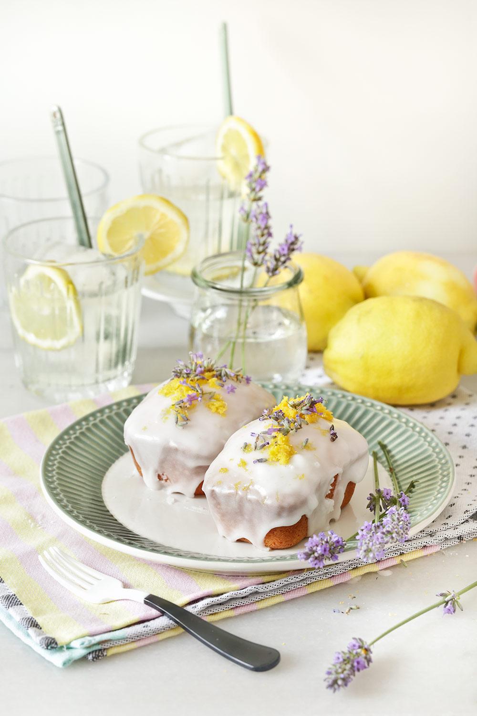 Receta mini pound cakes de limón