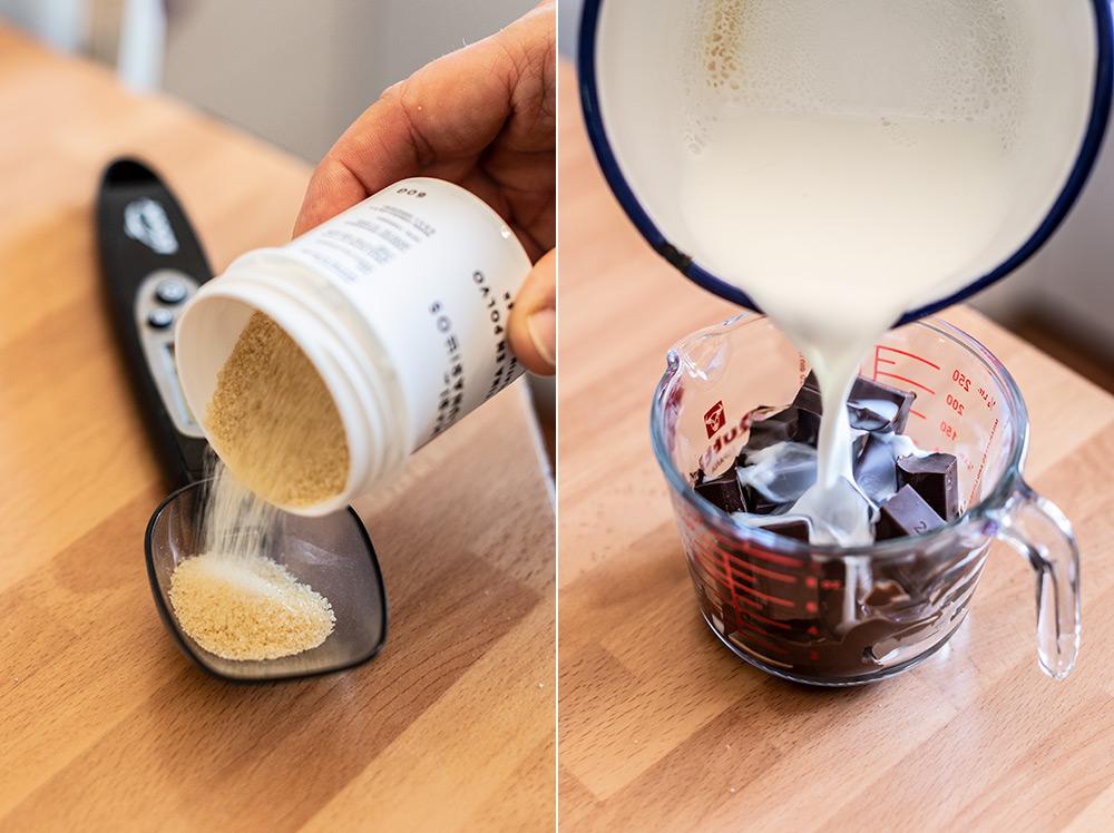 receta semiesferas mousse chocolate