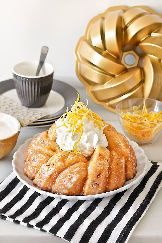 Receta bundt cake de naranja y limón