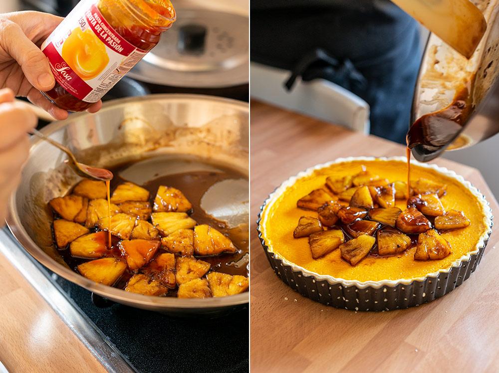 receta tartaleta gigante pinya fruta pasion