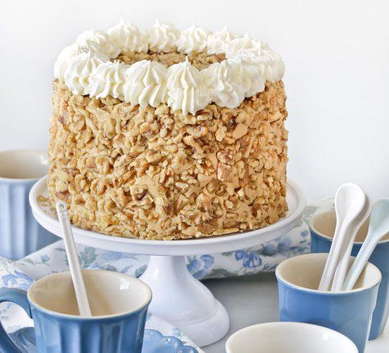 Receta tarta Tennessee de plátano y nueces