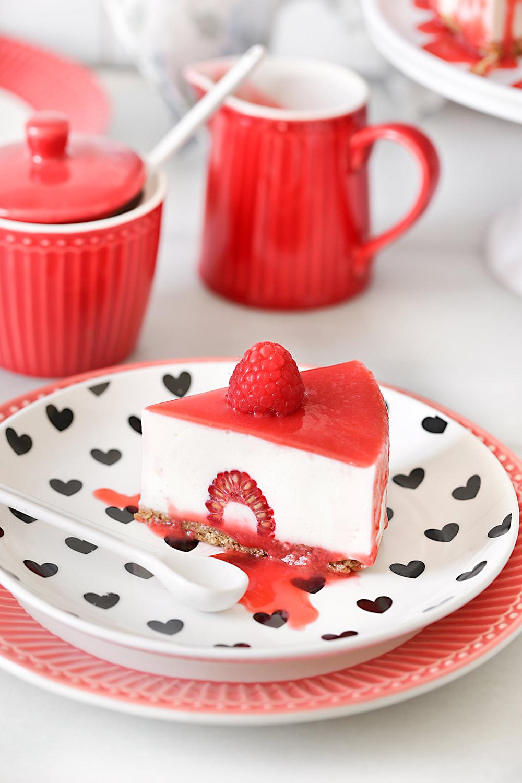 Receta tarta de yogur y frambuesas sin horno