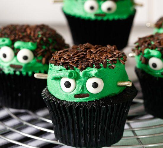 Receta cupcakes Frankenstein para Halloween