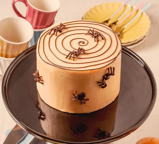 receta tarta aranyas halloween