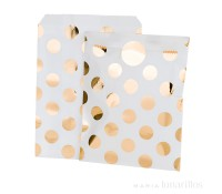 Bolsas de papel lunares dorados con pegatinas Party Time (8) - Talking Tables