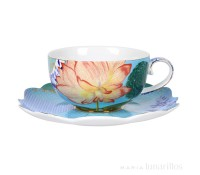 Taza con plato Royal Flowers 280 ml - Pip Studio